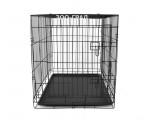 Клетка №6 для животных, 2 двери, эмаль, пласт.поддон, 122х78х87см