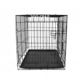 Клетка №4 для животных, 2 двери, эмаль, пласт.поддон, 91,4х58,4х66см