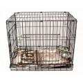 НАБОР: Клетка №5 для животных, 2 двери, эмаль, мет.поддон, 107х71х81см + лежанка + 2 подвесные миски 1,4