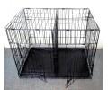 Клетка №5 для животных, 2 двери, эмаль, мет.поддон, перегородка, 111х74х80см