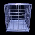 Клетка №4 для животных, 2 двери, хром, мет.поддон, 94х64х72см